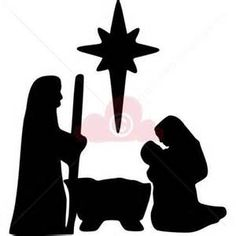 236x236 Nativity Silhouettes Nativity Christmas Nativity