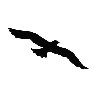 310x310 Eagle Flying Silhouette Birds Decals, Decal Sticker