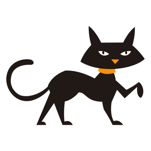 512x512 Black Cat Walking Cat Silhouette