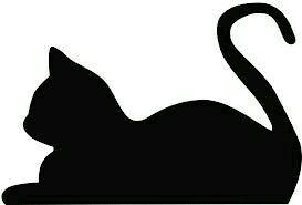 273x185 Cat Silhouette Doodle