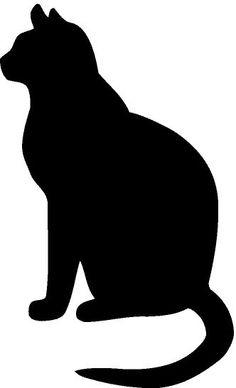 236x388 Pointillism Cat Outline Illustration