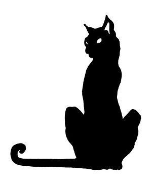 300x374 Black Cat Silhouette Very Cool Photo Blog Cat Drawings