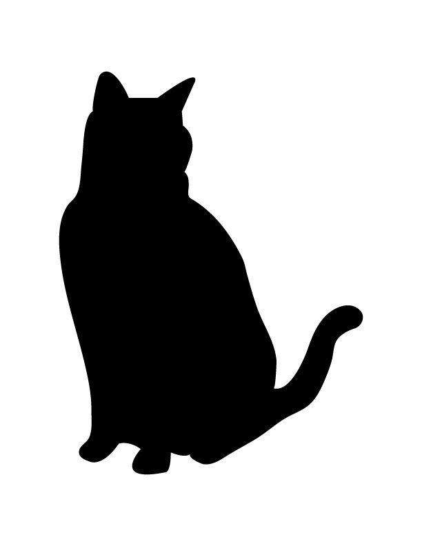 612x792 Black Cat Silhouettes Applique Clipart Library