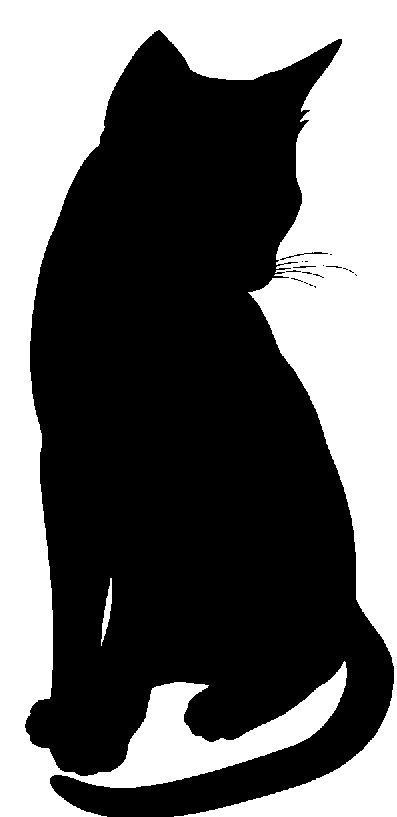 397x817 Cat Black And White Cat Clipart Ideas On Black Cat Silhouette 4