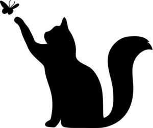 300x251 Cat Stencil Applique Or Emroidery Templates Inspiration For Diy