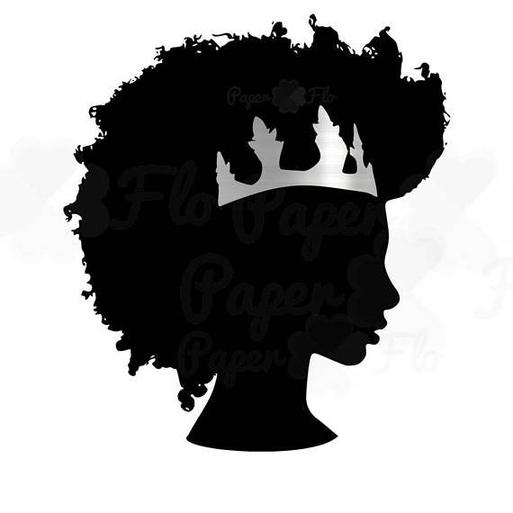 570x570 Afro Svg Silver Crown Clipart Black Woman Svg Black Girl
