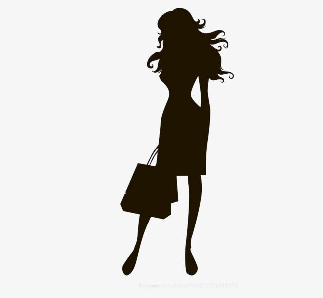 650x600 Black Silhouette Of A Woman, Black, Woman, Decoration Png Image