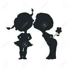 225x225 Silhouettes Of A Boy And A Girl Sitting On A Swing Accessories