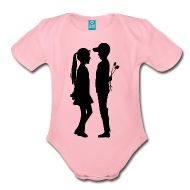 190x190 Boy Giving Flowers To Girl Silhouette By Martmel Bus Spreadshirt