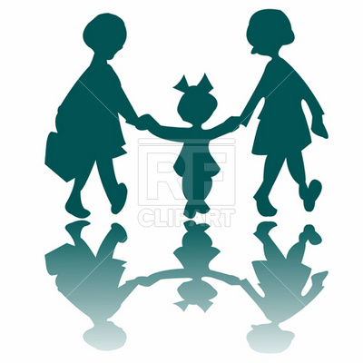 400x400 Girls Silhouette Royalty Free Vector Clip Art Image