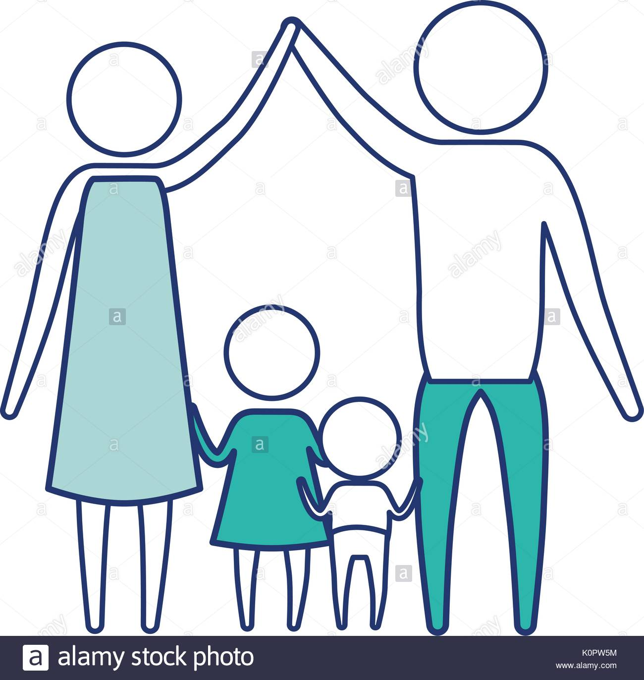 1300x1372 Color Blue Silhouette Of Sections Pictogram Couple Parents Holding