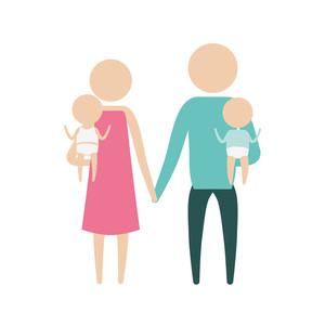 300x300 Two Parents Royalty Free Illustrations