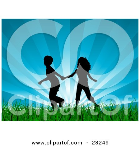 450x470 Clipart Silhouetted Walking Family Holding Hands By A Waterfront