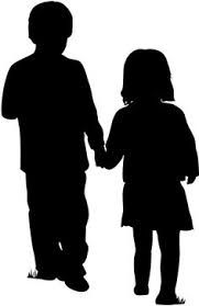 181x279 Full Size Boy And Girl Holding Hands Silhouettes, Wall Decals