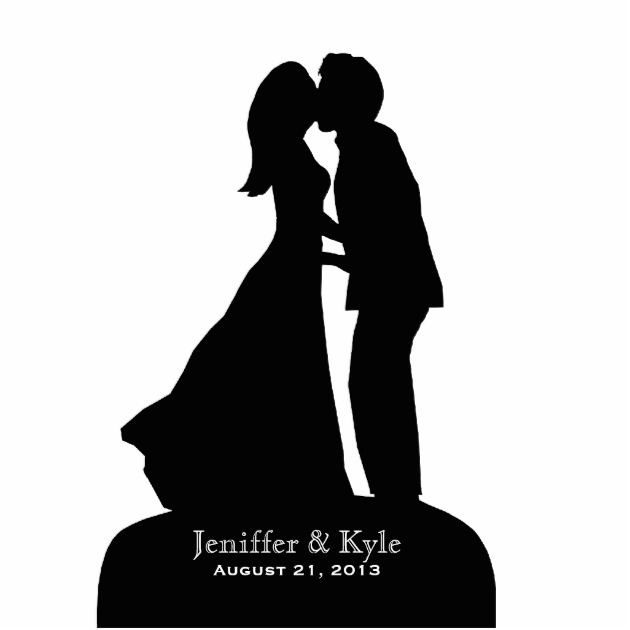 630x630 Bride And Groom Kissing Silhouette Clip Art