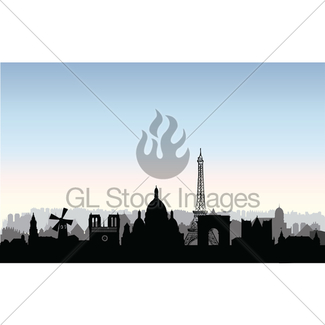 325x325 Moscow City Buildings Silhouette. Russian Urban Landscape Gl