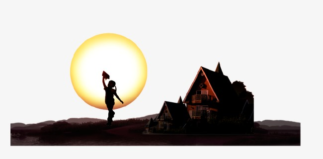 650x320 Silhouette Buildings, Building, Character, Sun Png Image