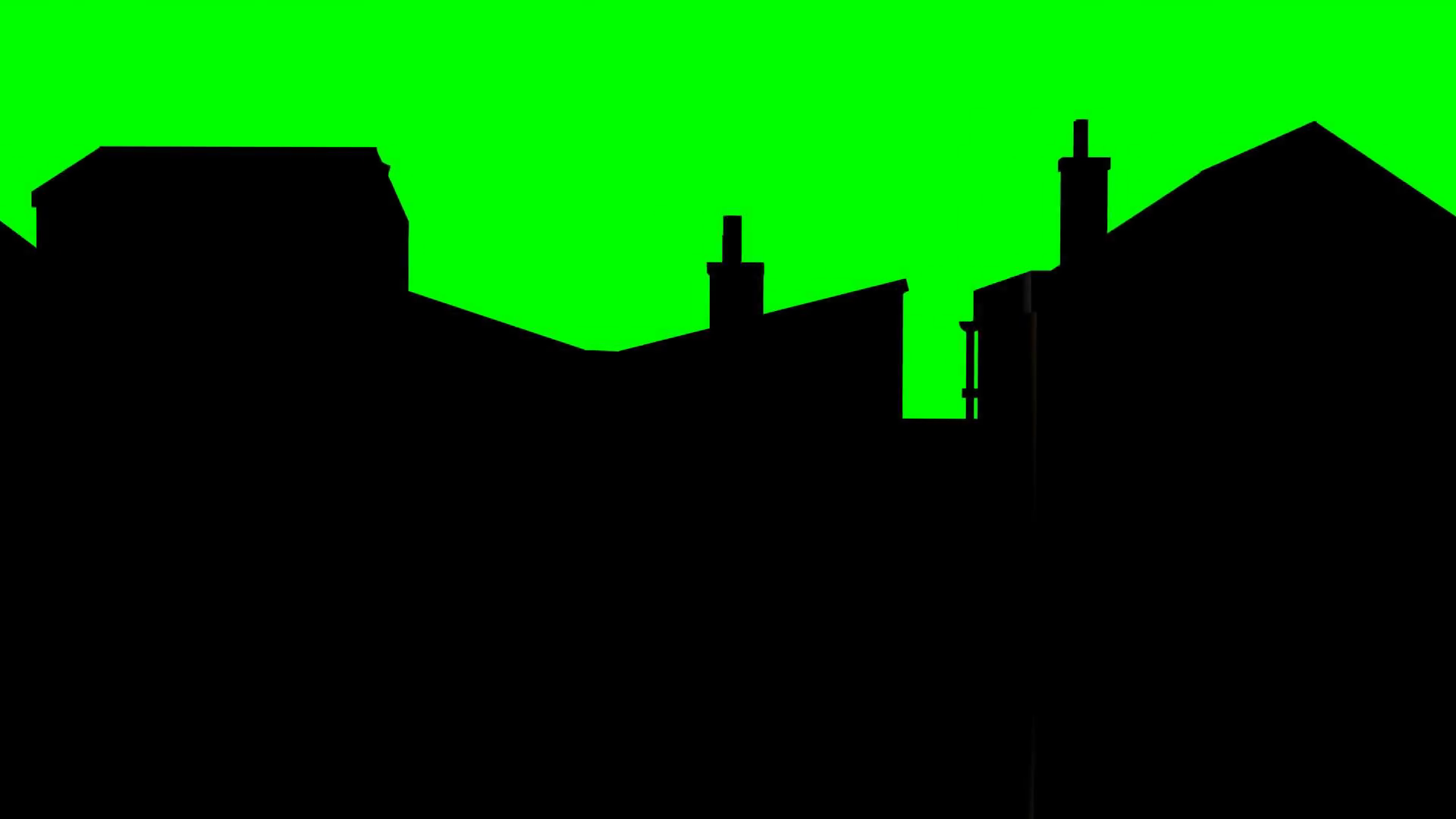 1920x1080 Tracking Shot Buildings In Silhouette Green Screen Motion