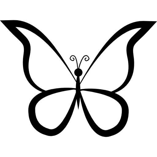 512x512 Butterfly Outline Design From Top View