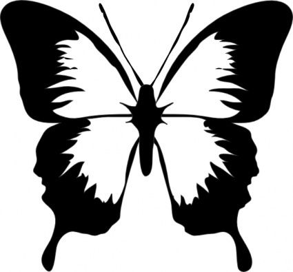 425x395 Cameo Silhouette Clip Art Butterfly Clip Art Vector Preview