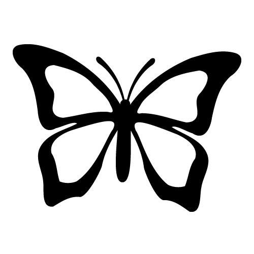 500x500 Mariposa Siluetassilhouette Butterfly