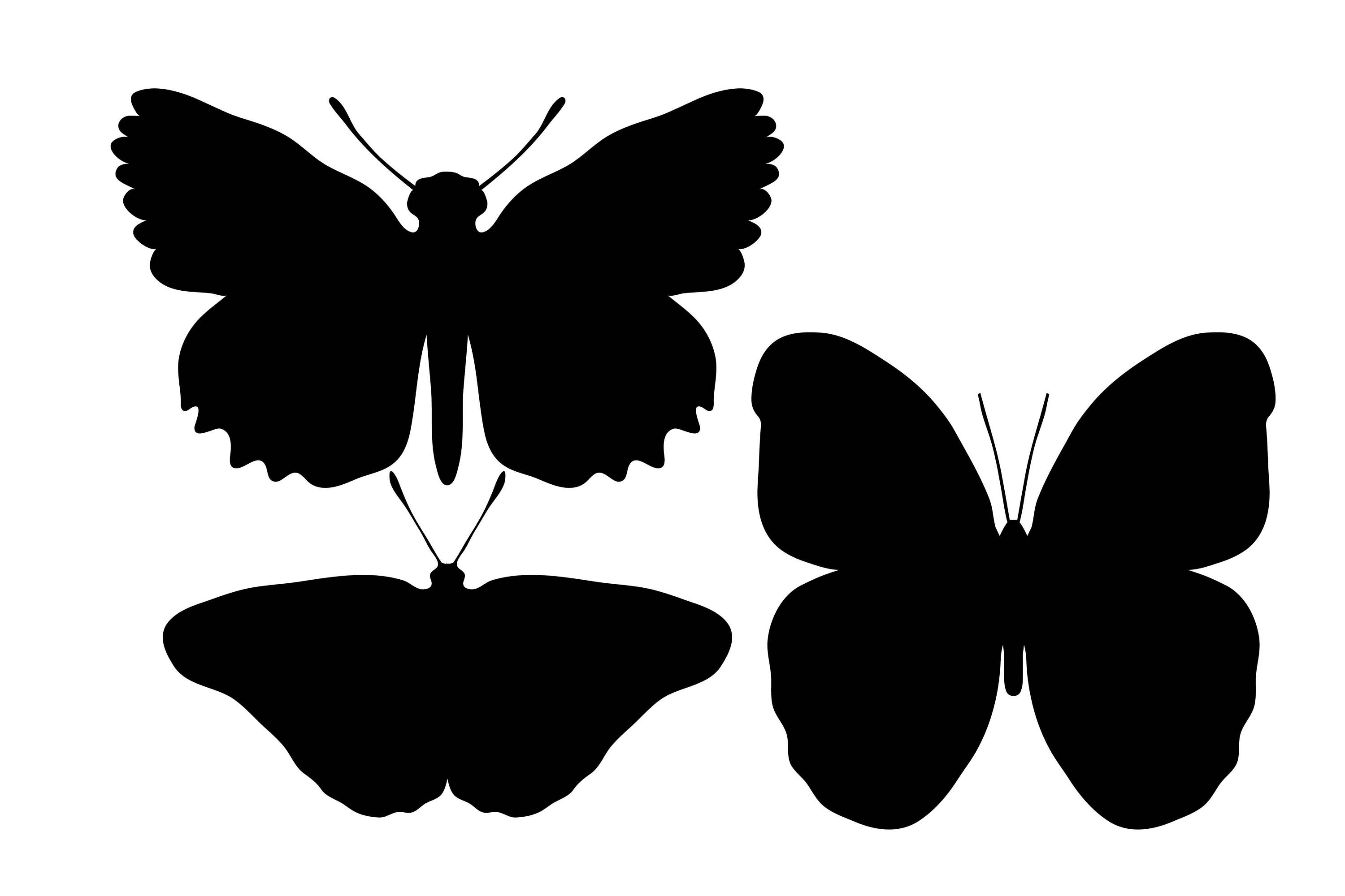 3000x2000 Butterfly Silhouette, Butterfly Clipart, Black Butterflies, Insect