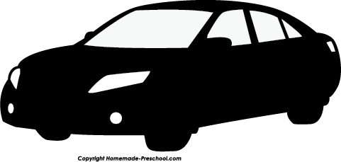 Old Race Car Silhouette Vector