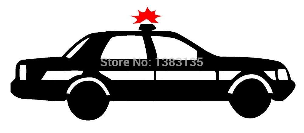 1000x437 Car Cop Silhouette Car Window Sticker Vinyl Decal Funny Jdm Laptop