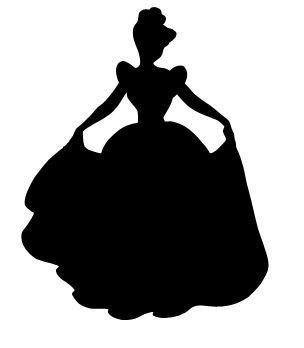 304x348 Cinderella Silhouette Vinyl Decal Sticker Car Window Laptop
