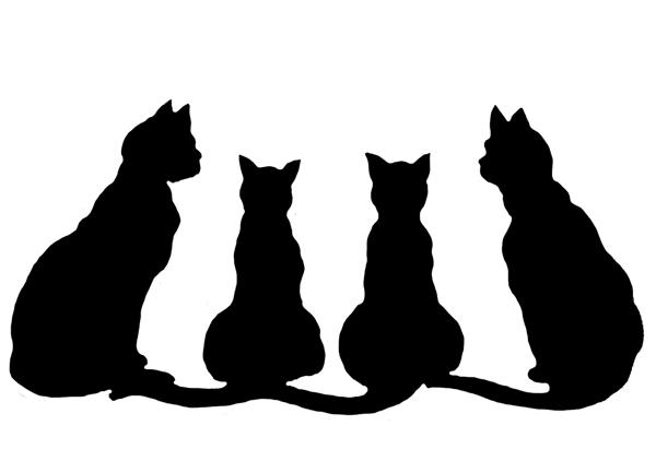 600x411 Black Cat Silhouette Clip Art