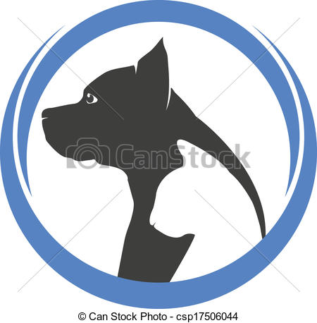 450x458 Dog And Cat Silhouettes Logo. Dog And Cat Silhouettes Eps