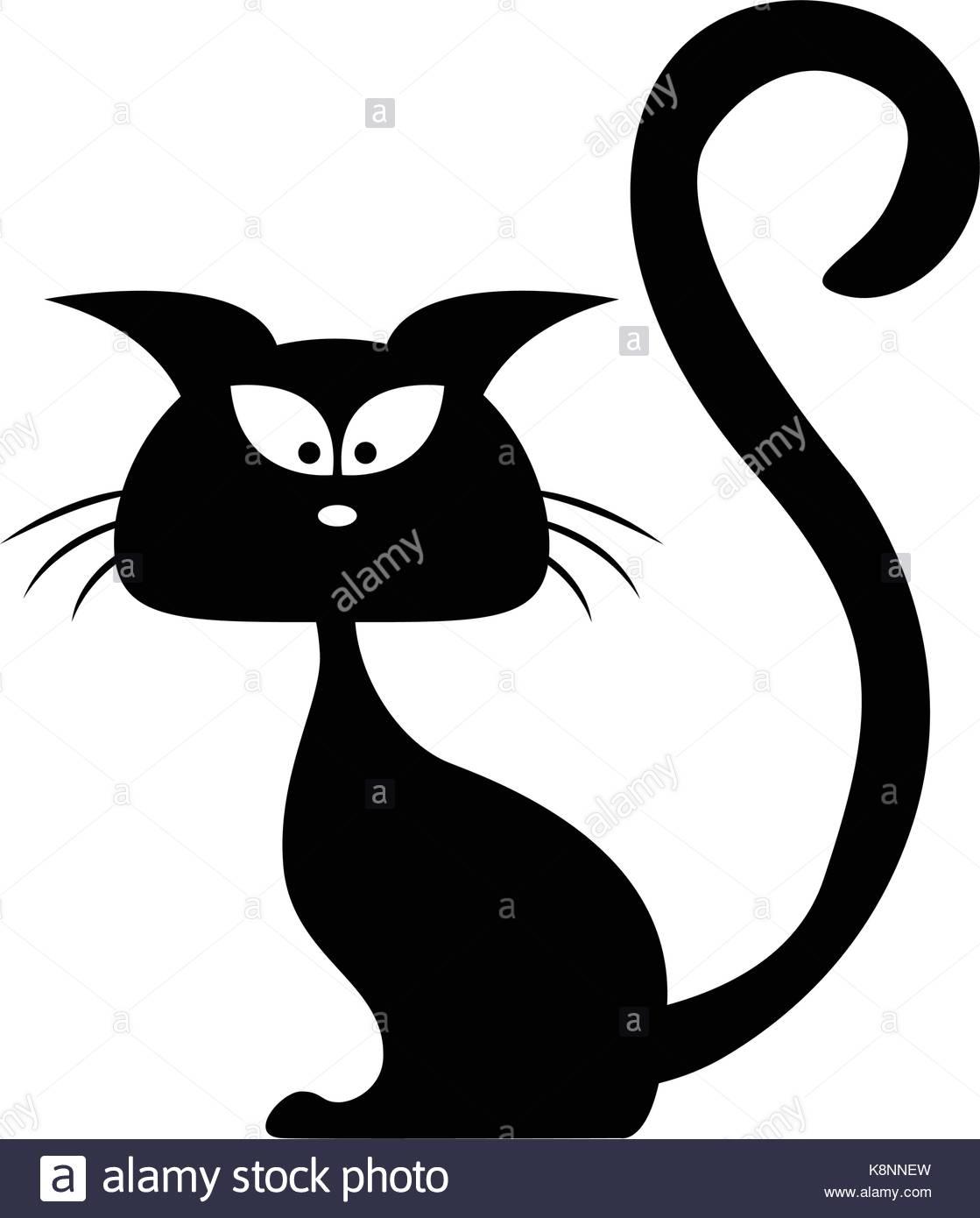 1119x1390 Halloween Black Cat Vector Silhouette. Cartoon Clipart