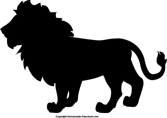 572x404 Lion Silhouette Clip Art Clipart Panda