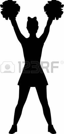 silhouette of cheerleader at getdrawings com free for personal use rh getdrawings com  cheerleader silhouette clip art free