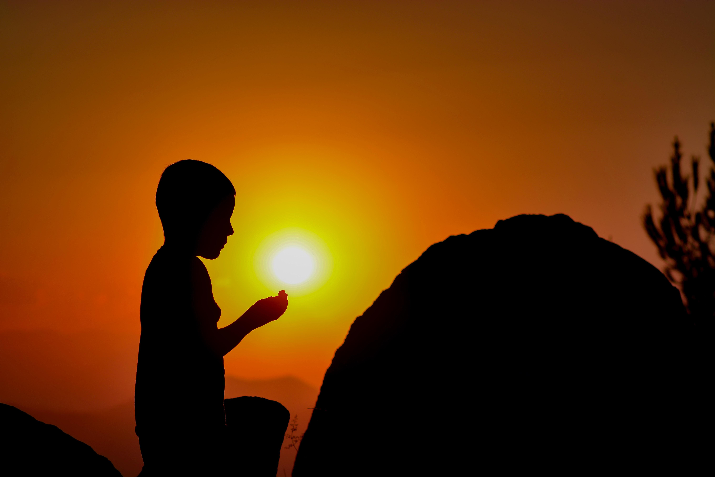 6000x4000 Wallpaper Child, Prayer, Silhouette Hd Widescreen High