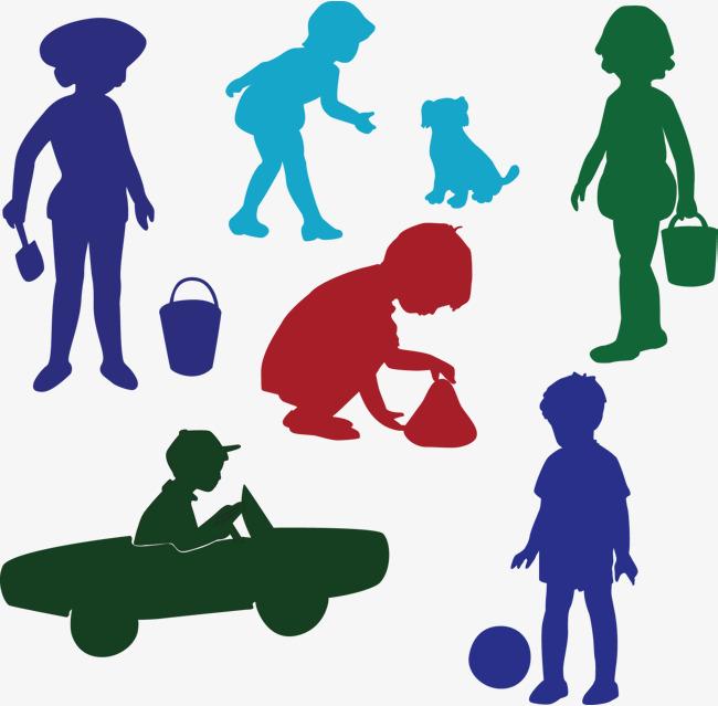 650x639 Silhouette Child Decoration Vector, Silhouette, Silhouette