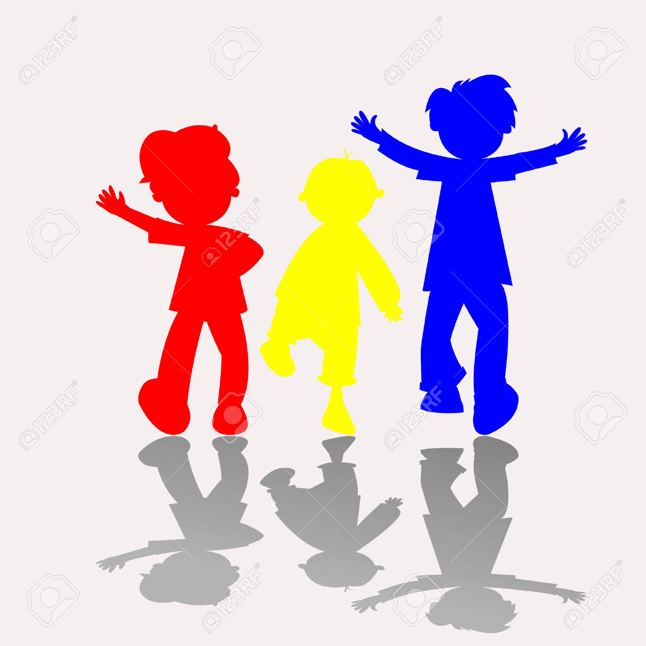 1300x1300 Children Holding Hands Silhouette Color Clipart Collection
