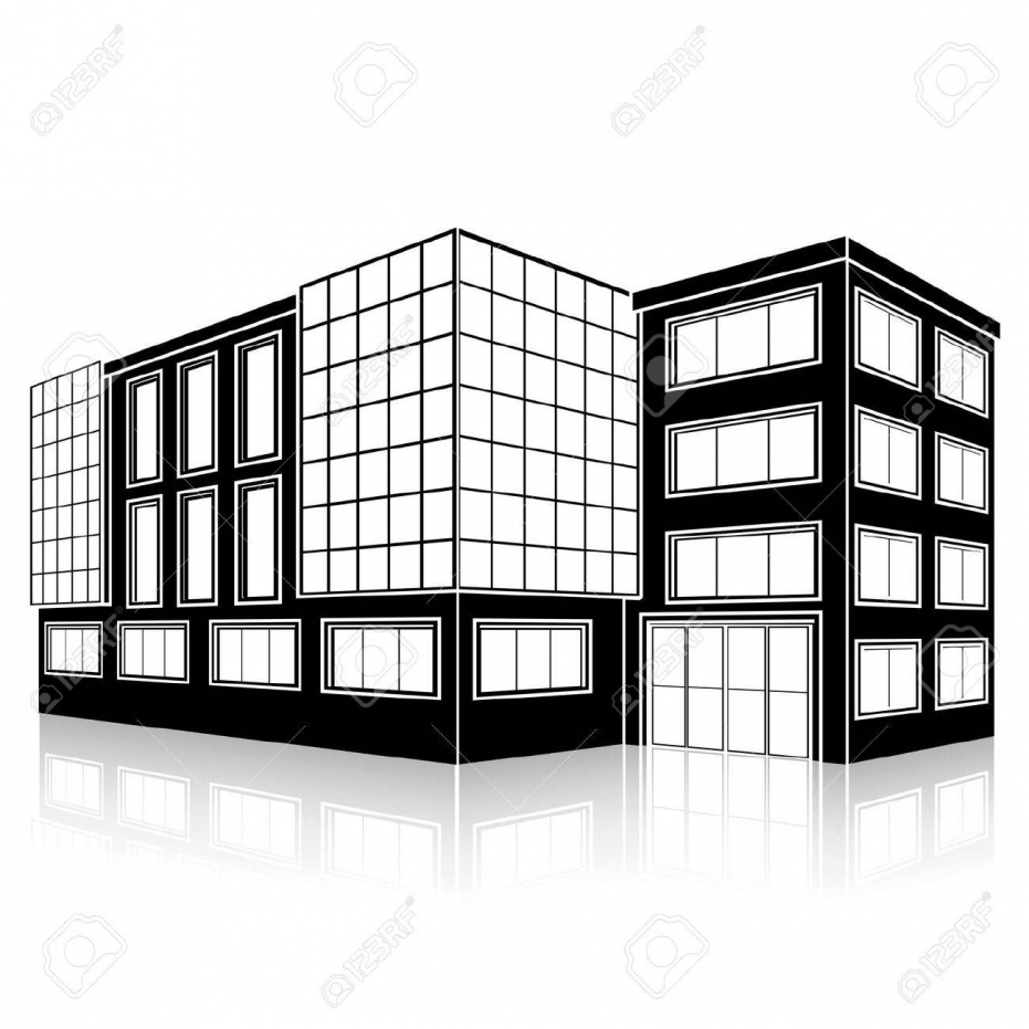 931x931 Cityscape Clipart Big Building Pencil And In Color Cityscape