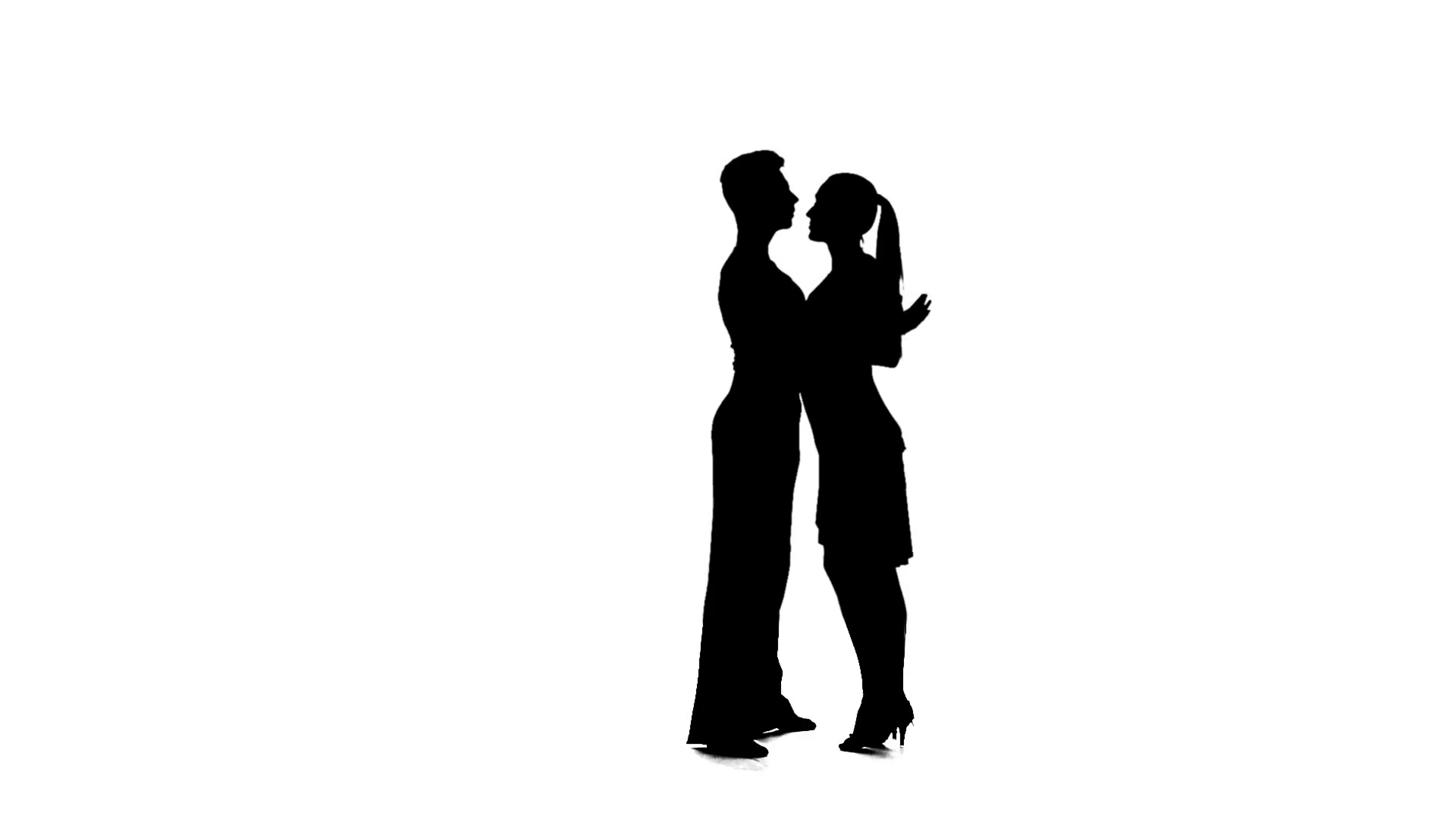 1920x1080 Couple Silhouette Professional Dancing Salsa On White Background