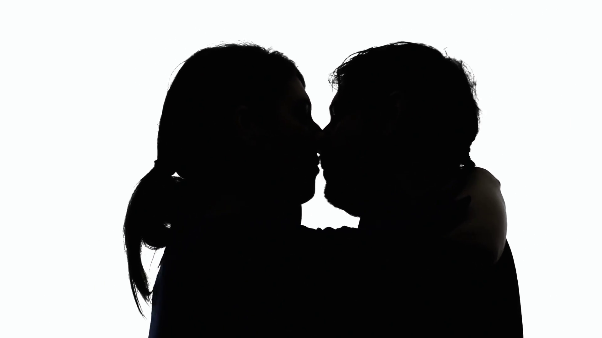 1920x1080 Silhouettes Couple Passionate Love. A Man And A Woman In Love