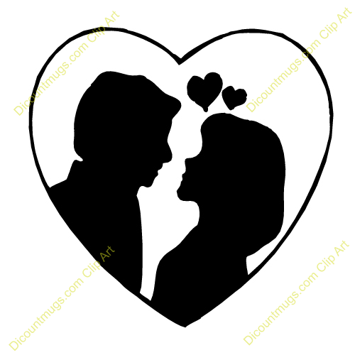 500x500 Clipart Heart Couple Kissing