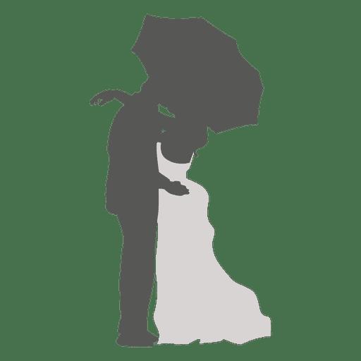 512x512 Wedding Couple Kissing Under Umbrella
