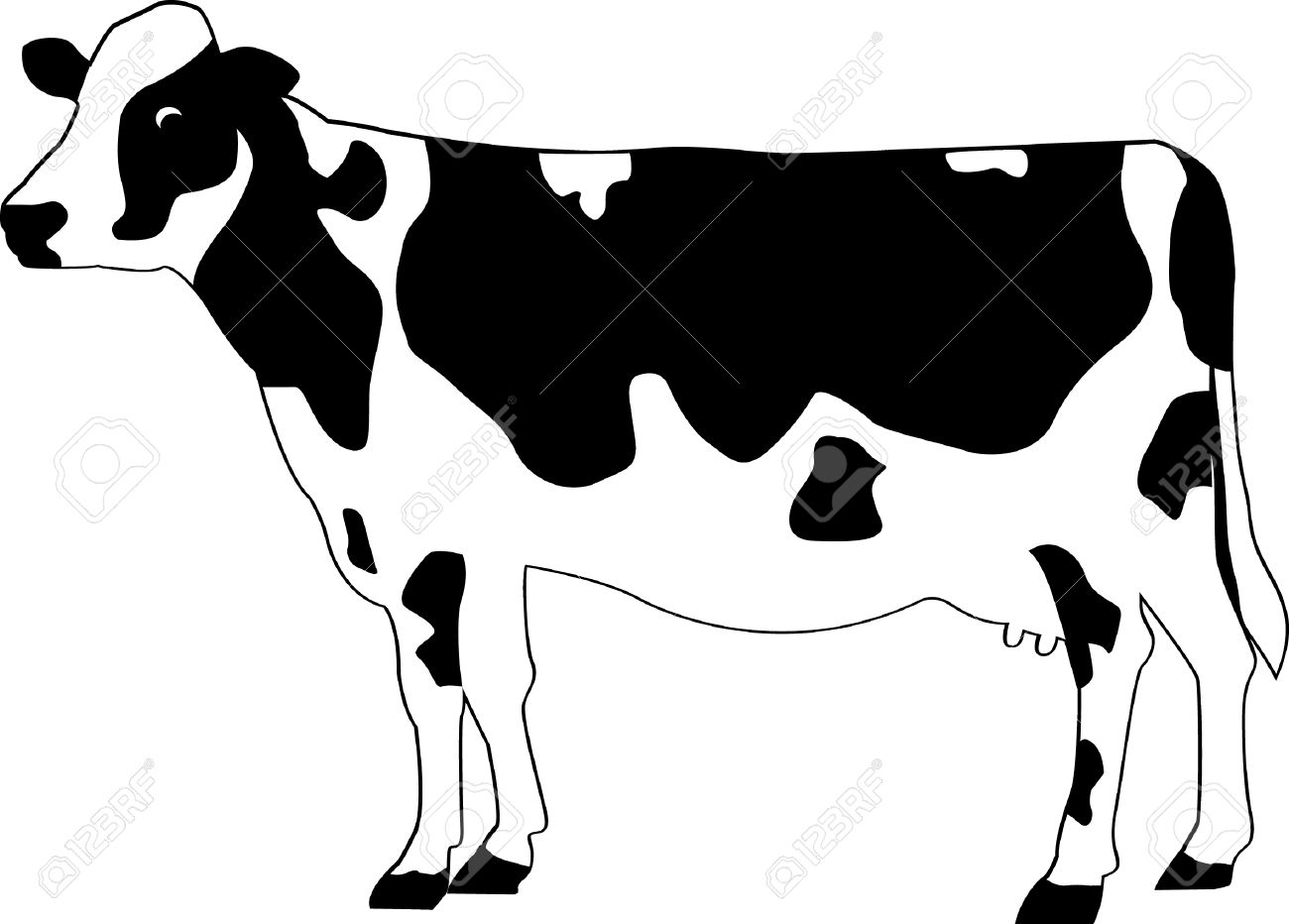 1300x932 Dairy Cow Clipart Black And White