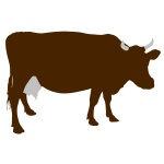 150x150 Funny Cow On Green Meadow Royalty Free Vector Clip Art Image