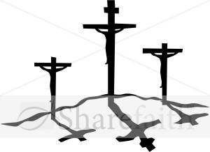 300x218 Crucifxion Silhouettes Cross Clipart