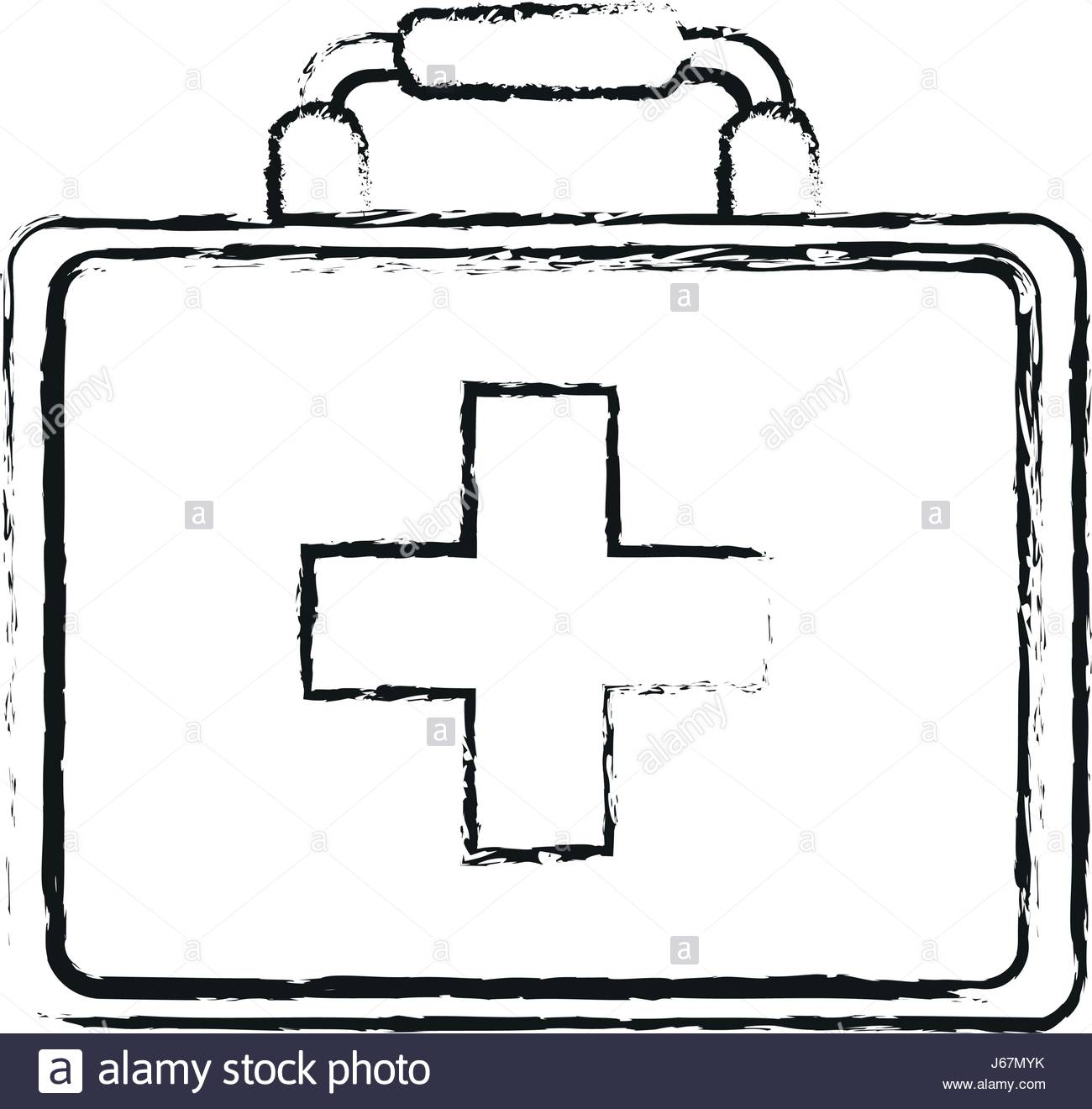 1300x1320 Blurred Silhouette Image Cartoon First Aid Kit With Symbol Cross