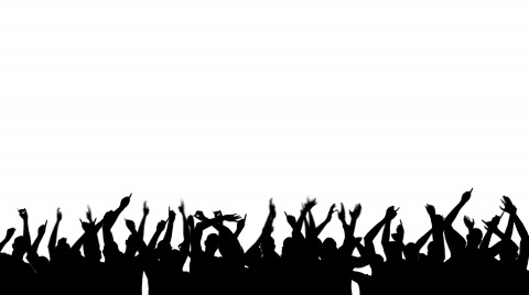480x268 Stock Video Party Crowd Silhouette ~