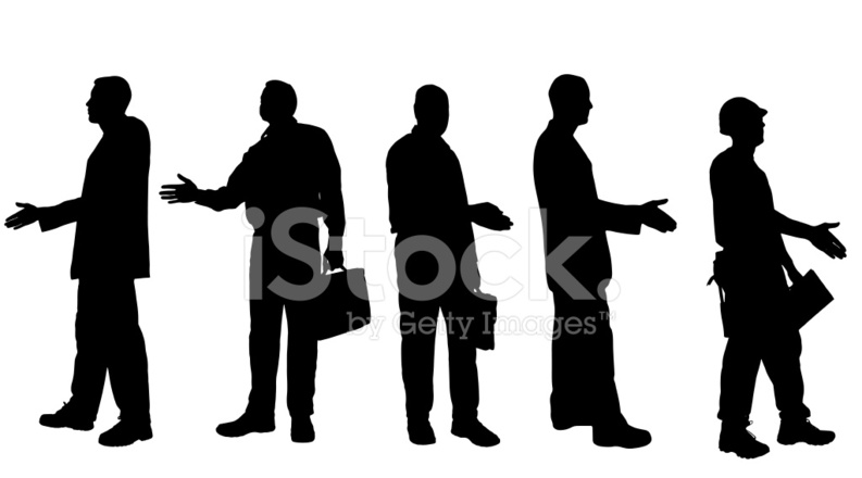 793x440 Vector Silhouettes Of Different Stock Vector