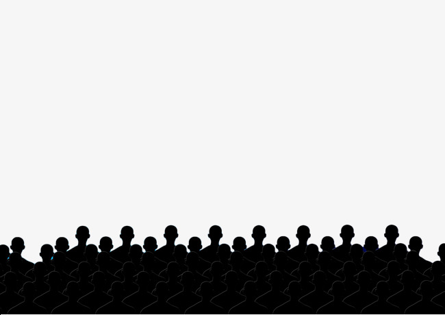 650x460 Black Silhouette Crowd Silhouette, The Film, Viewing, Black Png