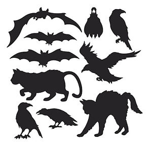 Silhouette Of Crows